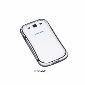 Bumper Case für Samsung N7100 Galaxy Note 2 schwarz transparent